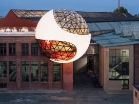 La dernière œuvre d'Oscar Niemeyer : la Sphère sur le site des Kirow-Werke à Leipzig-Plagwitz.