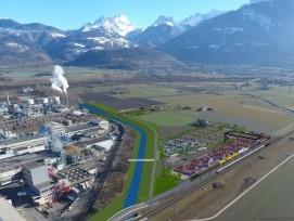 Le nouveau terminal rail-route est prévu en périphérie du site chimique et non plus en plein centre-ville.