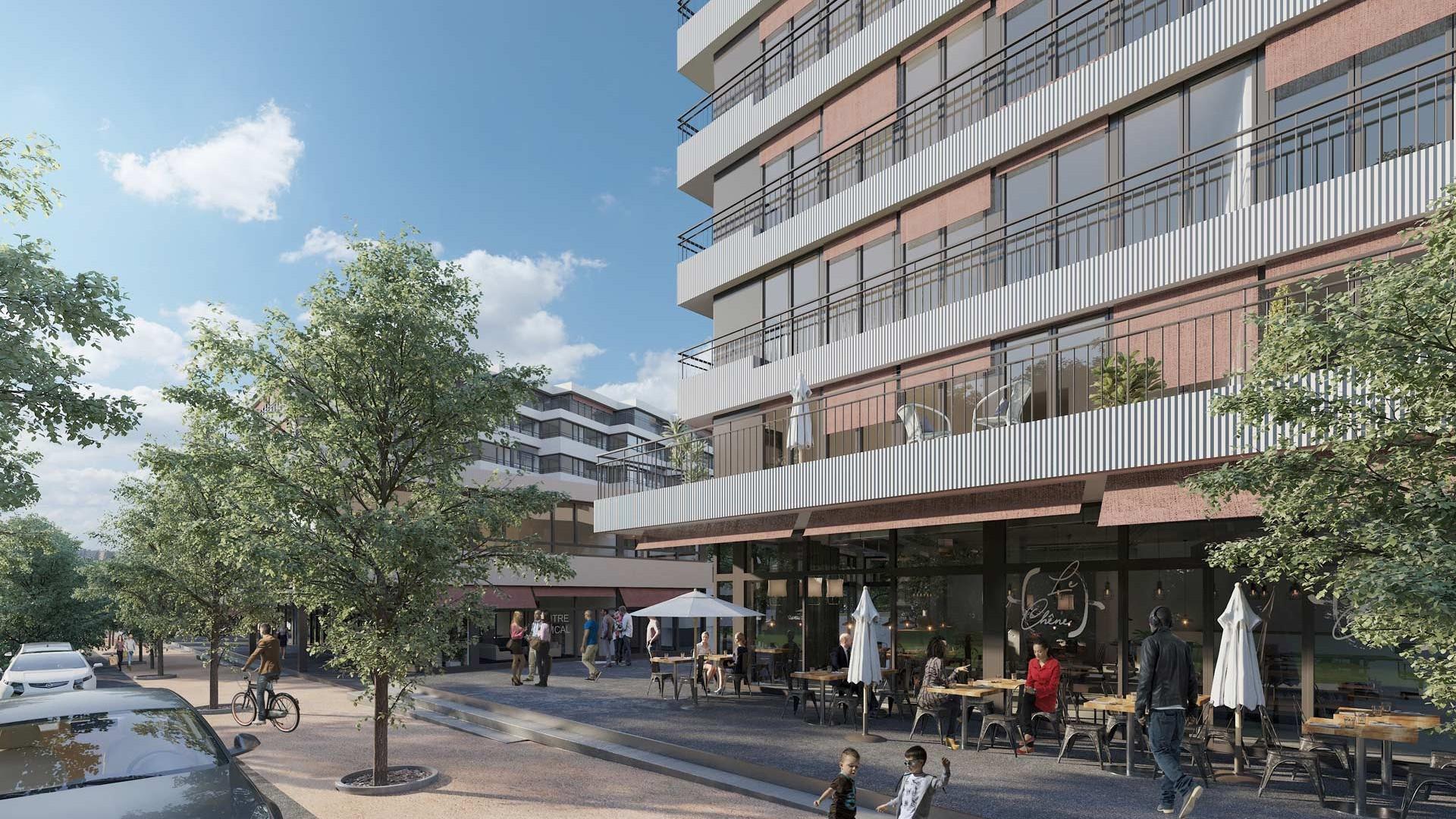 Le projet des Lisières à Gland touche pratiquement à sa fin, 4 immeubles et 4 bâtiments d'activités ont été construits