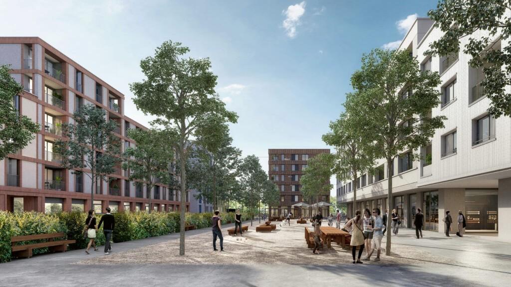 Sur une zone de développement d'environ 67 000 m2 à Crissier, un tout nouveau quartier va voir le jour d'ici 2024. b