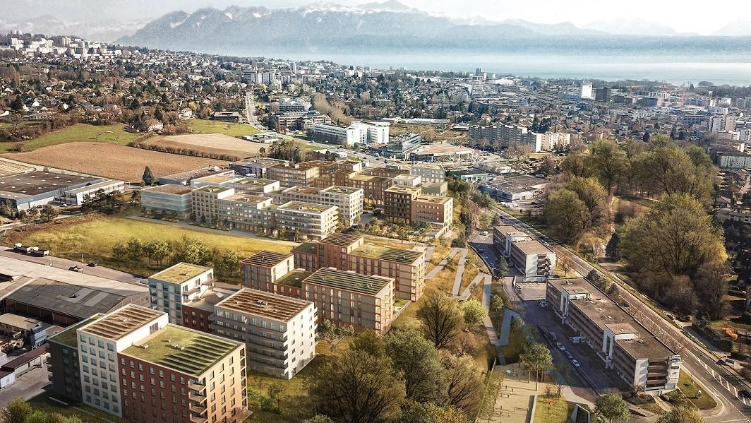 Sur une zone de développement d'environ 67 000 m2 à Crissier, un tout nouveau quartier va voir le jour d'ici 2024.